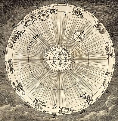 1731 Johann Scheuchzer Planet Orbit Art Print by Paul D Stewart