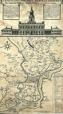 1752 Map Of Philadelphia, Pennsylvania Art Print by Everett