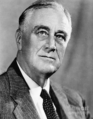 Franklin Delano Roosevelt Art Print by Granger