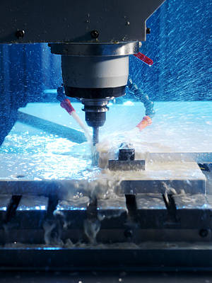 Milling Machine Photograph - Metalwork by Tek Image