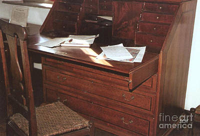 Photograph - 1800's Desk by Lee Hartsell