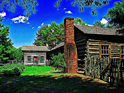 Digital Art - 1830 Cabin In Little Rock Arkansas by Carrie OBrien Sibley