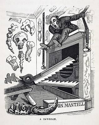 Mantell Photograph - 1836 Gideon Mantell Mantel Piece Sawrian by Paul D Stewart