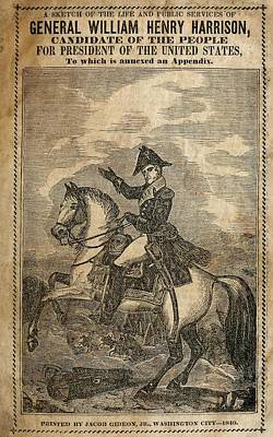 1840 Campaign Brochure Of William Henry Art Print