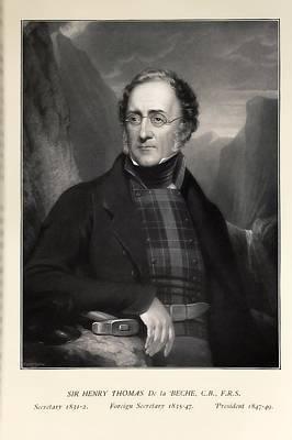 Fossil Reconstruction Photograph - 1840's Geologist Henry De La Beche by Paul D Stewart
