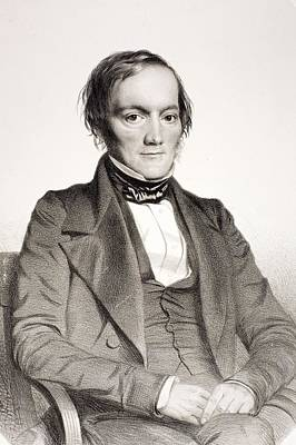 Darwin Fossils Photograph - 1850 Richard Owen Portrait Paleontologist by Paul D Stewart