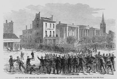 1866 Race Riot In New Orleans Was One Art Print by Everett
