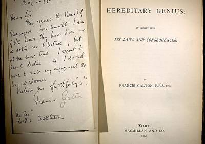 Galton Photograph - 1869 Galton Signature 'hereditary Genius' by Paul D Stewart