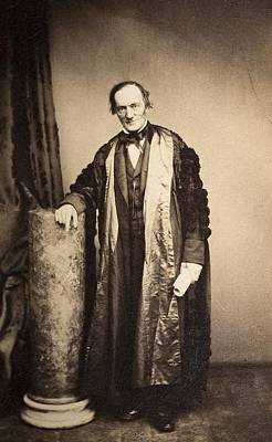 Darwin Fossils Photograph - 1870's Professor Sir Richard Owen by Paul D Stewart
