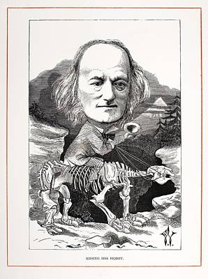 Darwin Fossils Photograph - 1871 Richard Owen On Megatherium Fossil by Paul D Stewart