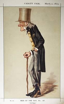 British Biologist Photograph - 1873 Richard Owen 'old Bones' Vanity Fair by Paul D Stewart