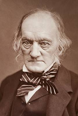 Darwin Fossils Photograph - 1878 Sir Richard Owen Photograph Portrait by Paul D Stewart