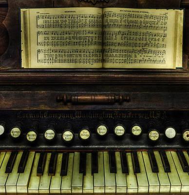 Business Card Photograph - 1879 Cornish Piano And Organ Company Piano - Vintage - Nostalgia  by Lee Dos Santos