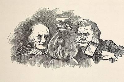 Darwin Enemy Photograph - 1885 Richard Owen, T.h. Huxley, Waterbaby by Paul D Stewart
