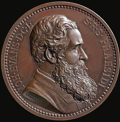 Biface Photograph - 1887 Bronze Of Sir John Evans Antiquiary by Paul D Stewart