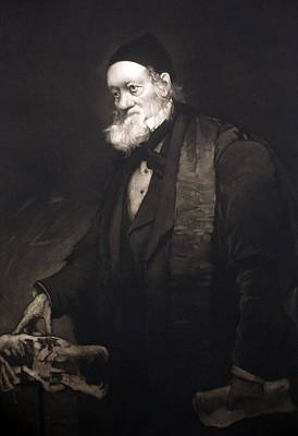 Darwin Fossils Photograph - 1889 Sir Richard Owen Portrait In Old Age by Paul D Stewart