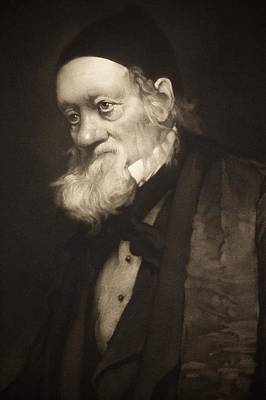 1889 Sir Richard Owen Portrait Old Age Cu Art Print by Paul D Stewart