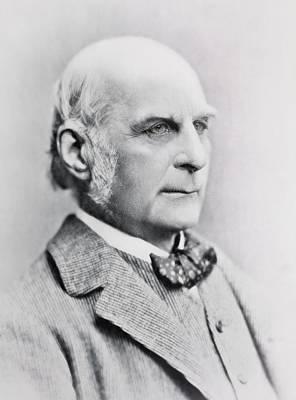 Francis Galton Photograph - 1897 Francis Galton British Eugenics by Paul D Stewart