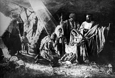Photograph - 1898 Artwork Of Nativity Scene At Nativity Church by Munir Alawi