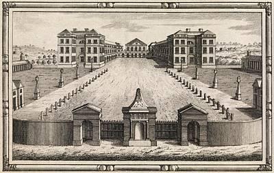18th C Engraving Of Foundling Hospital Art Print