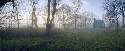 18th Century Farm In Fog Original by Jan W Faul