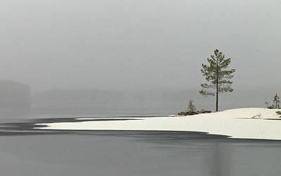 Jouko Lehto Royalty-Free and Rights-Managed Images - Haukkajarvi first snow by Jouko Lehto