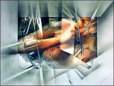 Mixed Media - #19 Orangenudecomp 2003 by Glenn Bautista