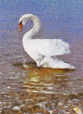 Fidelity Painting - Swan by Odon Czintos