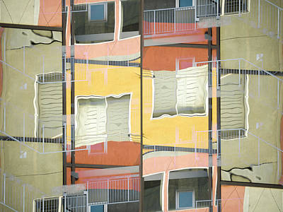 Geometrical Photograph - Urban Abstract San Diego by Carol Leigh