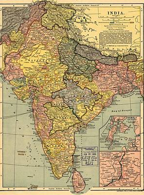 Rire Photograph - 1902 Map Of India, Then A Colony by Everett