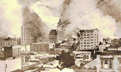 1906 San Francisco Earthquake And Fire Art Print by Padre Art