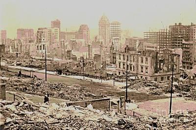 1906 San Francisco Earthquake Damage Art Print by Padre Art