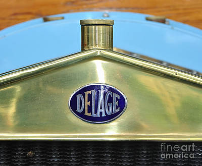 Photograph - 1909 Delage Badge by Kaye Menner