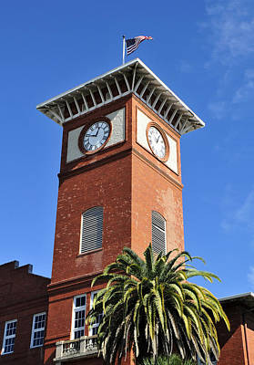 Cigar Factory Photograph - 1910 Clock Tower by David Lee Thompson