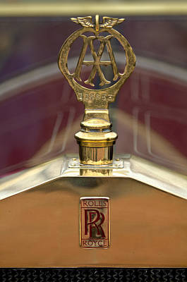 1910 Rolls-royce Silver Ghost Balloon Hood Ornament Art Print by Jill Reger