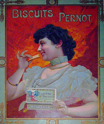 1910s French Art Nouveau Poster Biscuit Pernot Advertisement  Original by Anonymous