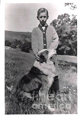 Photograph - 1912 Dad And His Collie by Phyllis Kaltenbach