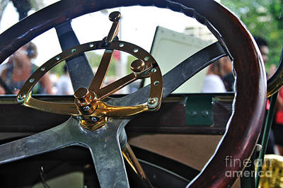 Photograph - 1913 Chalmers - Steering Wheel by Kaye Menner