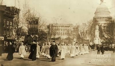 1913 Suffragette Parade In Washington D.c. Art Print