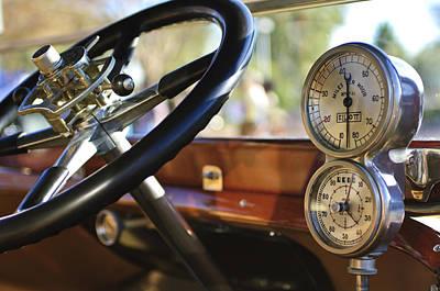 Photograph - 1914 Rolls-royce 40 50 Silver Ghost Landaulette Steering Wheel And Instruments by Jill Reger