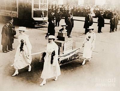 1915 New York City Suffrage Parade Art Print
