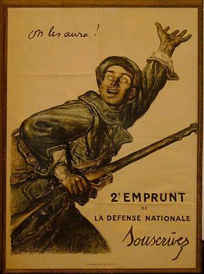 1915 Original French Wwi Poster - On Les Aura Original