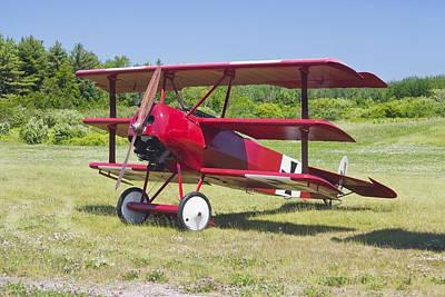 Triplane Photograph - 1917 Fokker Dr.1 Triplane Red Barron Canvas Photo Print Poster by Keith Webber Jr
