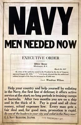 1917 Recruitment Poster For The Us Art Print by Everett