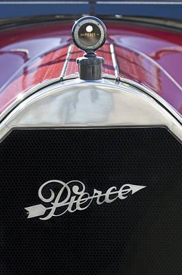 Photograph - 1919 Pierce-arrow Model 48 Dual Valve Roadster Grille Emblem by Jill Reger