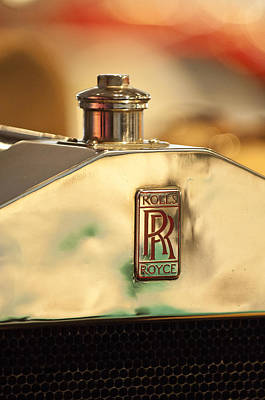 Photograph - 1920 Rolls-royce 40-50hp Silver Ghost Gentleman's Roadster Hood Emblem by Jill Reger