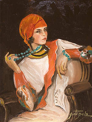 Painting - 1920's Flapper Gal by Pati Pelz