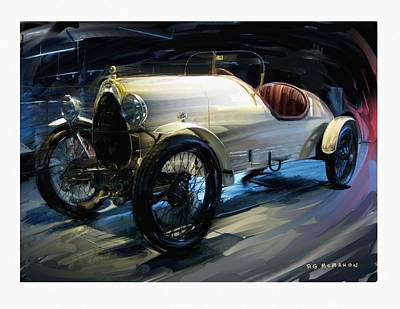 Digital Art - 1922 Bugatti Type 23 Brescia by RG McMahon