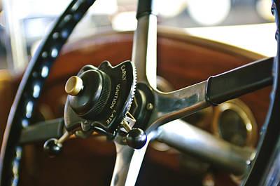 Photograph - 1923 Rolls-royce 20hp  Steering Wheel by Jill Reger