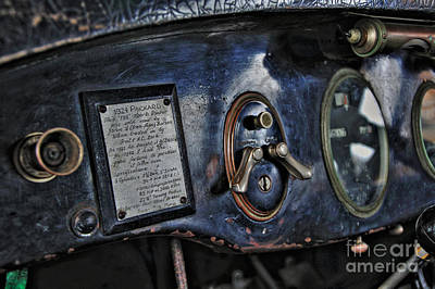 Photograph - 1924 Packard - Dash by Kaye Menner